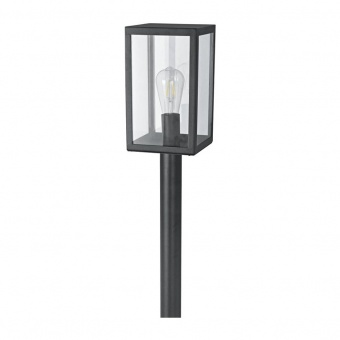 градински стълб celia, black, 1xE27, aca lighting, celia1pobk
