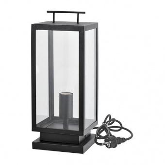 градинска настолна лампа celia, black, 1xE27, aca lighting, celia1fplbk