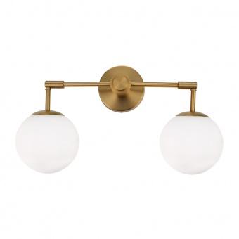 спот avantgarde, brass+white, 2xE27, aca lighting, v360502w