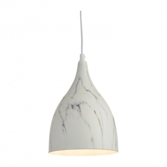 пендел vintage, white marble shade+white, 1xE27, aca lighting, ks174317mr