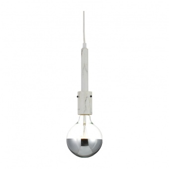 пендел vintage, white marble, 1xE27, aca lighting, ks2084p51smr
