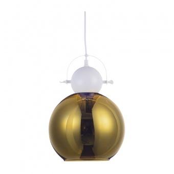 пендел style, polished white+polished brass, 1xE27, aca lighting, ks081225bw