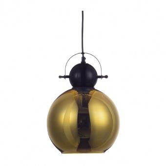 пендел style, polished black+polished brass, 1xE27, aca lighting, ks081225bb