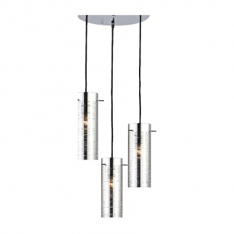 полилей style, chrome+black, 3xE27, aca lighting, dla12593ch