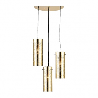 полилей style, polished brass+black, 3xE27, aca lighting, dla12593pb