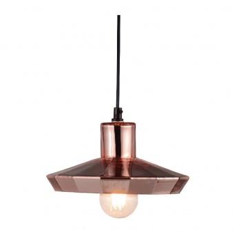 пендел style, polished copper+matt black, 1xE27, aca lighting, ks174522pc
