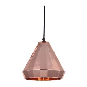 пендел style, polished copper+matt black, 1xE27, aca lighting, ks174622pc