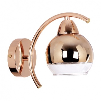 аплик style, copper-gold+clear, 1xE27, aca lighting, tnk81444cg1w