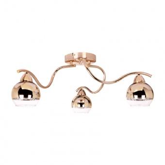 полилей style, copper-gold+clear, 3xE27, aca lighting, tnk81444cg3h