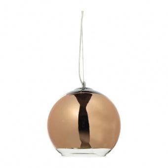 пендел style, chrome+copper-gold+clear, 1xE27, aca lighting, oyd6042bcg