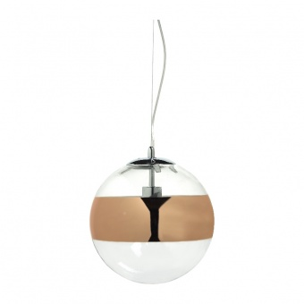 пендел style, chrome+copper-gold+clear, 1xE27, aca lighting, cx1006p250cg