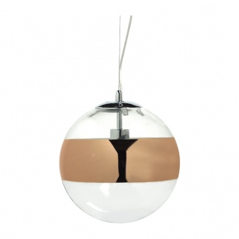 пендел style, chrome+copper-gold+clear, 1xE27, aca lighting, cx1006p300cg