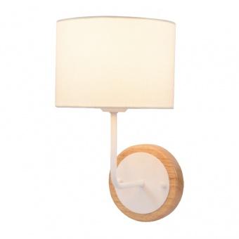 аплик textile, sand white+white+natural, 1xE27, aca lighting, od6508wwh