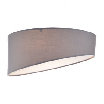 плафон textile, pale grey+sandblast, 3xE27, aca lighting, ad8030pg