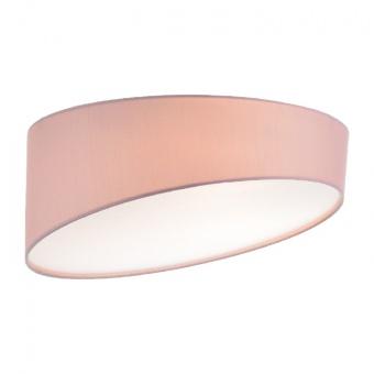 плафон textile, pale pink+sandblast, 3xE27, aca lighting, ad8030pp