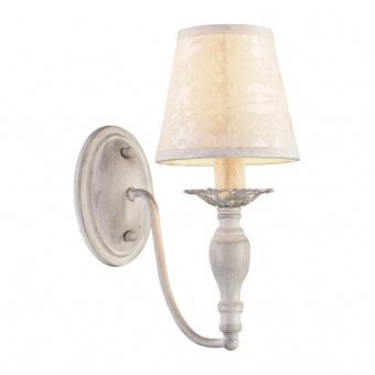 аплик textile, antique white+cream, 1xE14, aca lighting, dl9501wwb