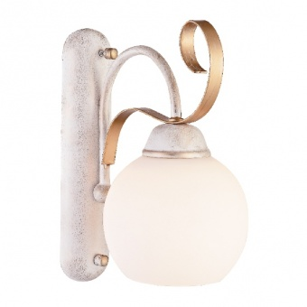 аплик elegant, white patine+antique gold+white, 1xE27, aca lighting, dl11691w