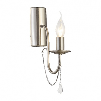 аплик elegant, satin nickel+clear, 1xE14, aca lighting, dla12651wsn