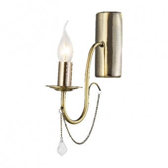 аплик elegant, bronze+clear, 1xE14, aca lighting, dla12651wab