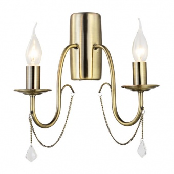 аплик elegant, bronze+clear, 2xE14, aca lighting, dla12652wab