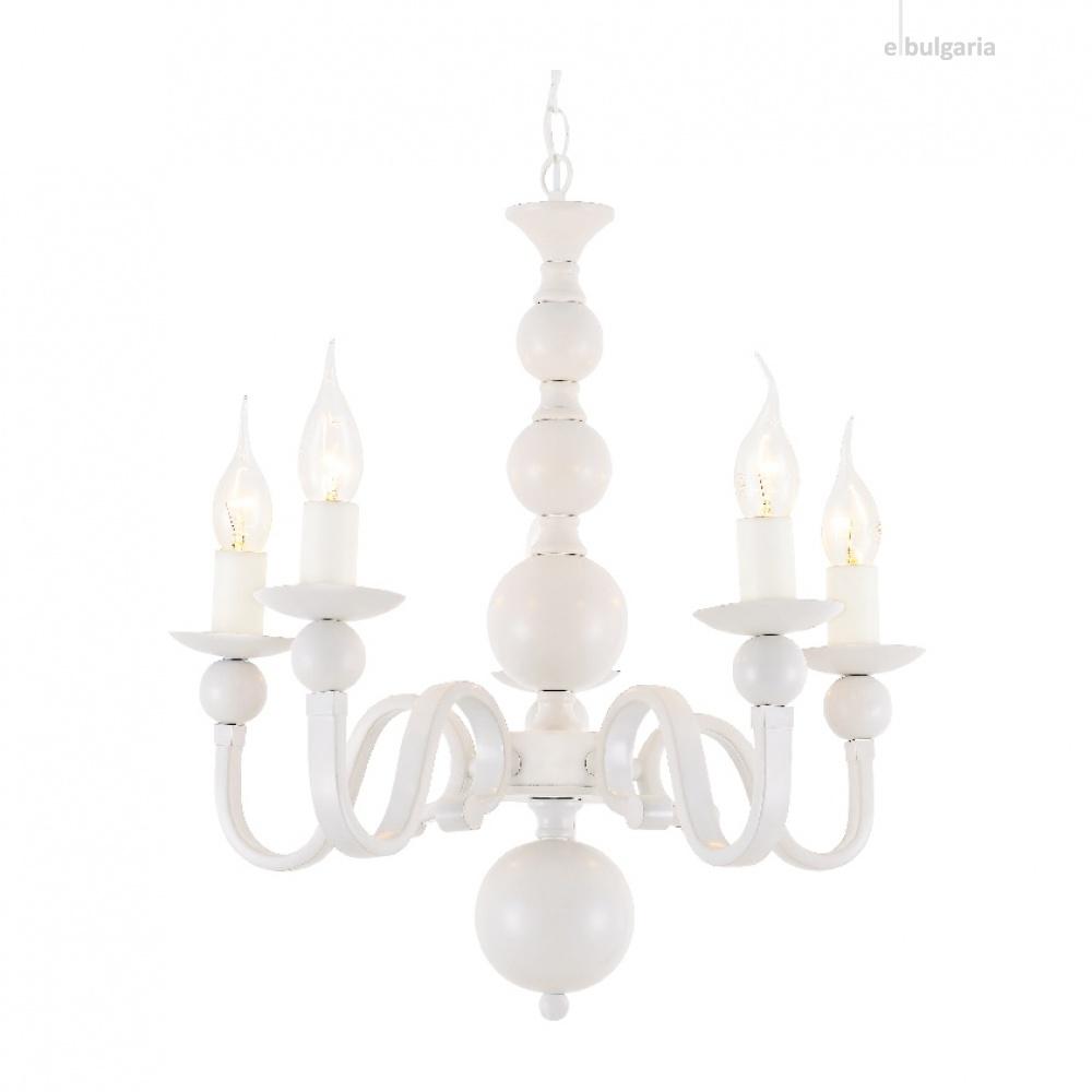 полилей elegant, matt white, 5xE14, aca lighting, dla11855w