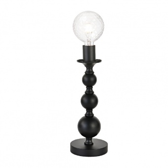 настолна лампа elegant, matt black, 1xE27, aca lighting, dla11851tb