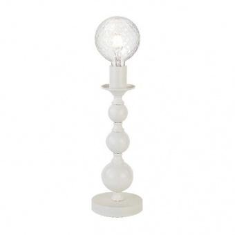 настолна лампа elegant, matt white, 1xE27, aca lighting, dla11851tw