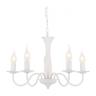 полилей elegant, matt white, 5xE14, aca lighting, dla12015pw