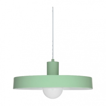 пендел primary, matt mint+white, 1xE27, aca lighting, od5392smi