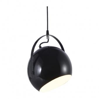 пендел primary, polished black+white, 1xE27, aca lighting, od8067bk