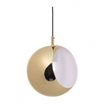 пендел primary, polished brass+white, 1xE27, aca lighting, v36037cg