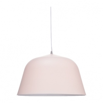 пендел primary, pale matt pink+white, 1xE27, aca lighting, od8072pp