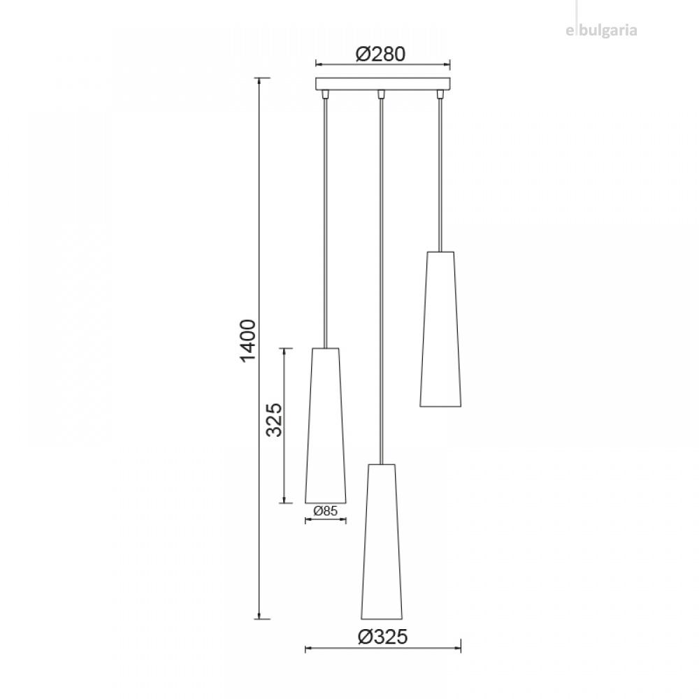 полилей primary, white, 3xE27, aca lighting, dla11423a