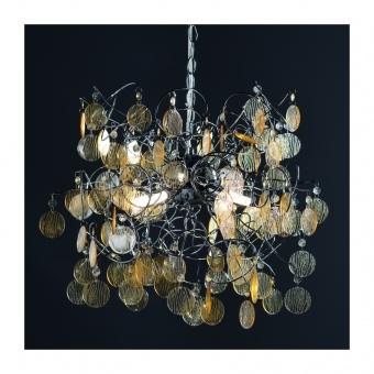 полилей acrylic, chrome+clear amber, 4xG9, aca lighting, sf633914a