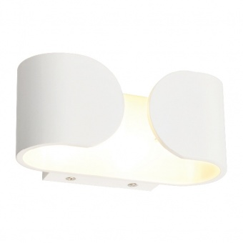 аплик wall&ceiling luminaires, matt white, 2xled 3w, 4000k, aca lighting, l350494