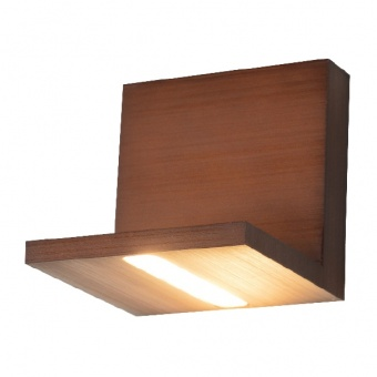 аплик wall&ceiling luminaires, wood shade, led 4w, 3000k, aca lighting, l36291wd