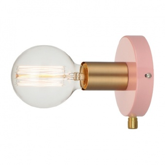 аплик wall&ceiling luminaires, polished dusky pink+brushed brass, 1xE27, aca lighting, v36382pb