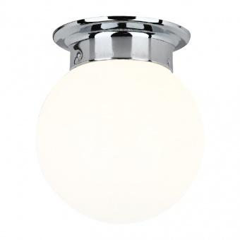 плафон wall&ceiling luminaires, chrome+white, 1xE27, aca lighting, su0608wc