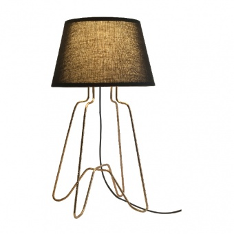 настолна лампа table&floor luminaires, polished brass+black, 1xE27, aca lighting, ad80281t