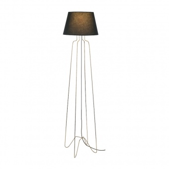 лампион table&floor luminaires, polished brass+black, 1xE27, aca lighting, ad80281f