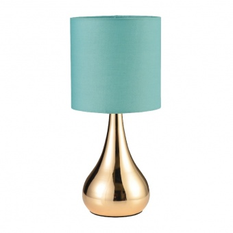 настолна лампа table&floor luminaires, polished brass+mint, 1xE14, aca lighting, ks1178t1mg