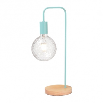настолна лампа table&floor luminaires, mint+natural, 1xE27, aca lighting, ks1755tmw