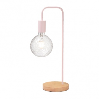 настолна лампа table&floor luminaires, pale pink+natural, 1xE27, aca lighting, ks1755tpw