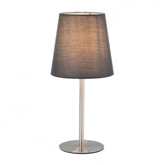 настолна лампа table&floor luminaires, satin nickel+grey, 1xE14, aca lighting, mt3000gn