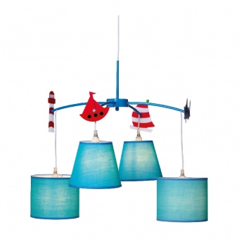 полилей bambini luminaires, blue+white, 4xE14, aca lighting, md91054