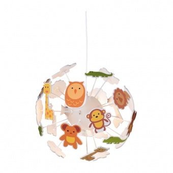 полилей bambini luminaires, multicolor, 4xE14, aca lighting, md160224zoo