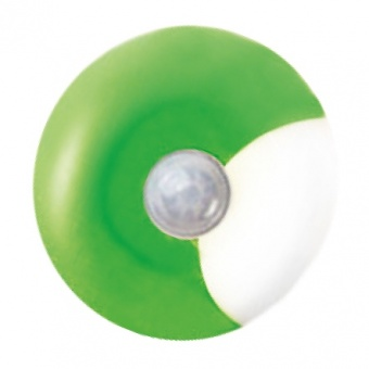 нощна лампа bambini luminaires, green+white, led 0.4w, 6000k, aca lighting, 55504ledg