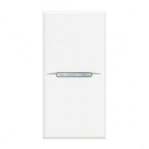 ключ бутон обикновен сх.1, white, bticino, axolute, hd4001