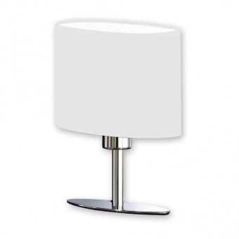 настолна лампа yimmi, chrome coloured+white shade, 1xE14, fischer&honsel, 52231