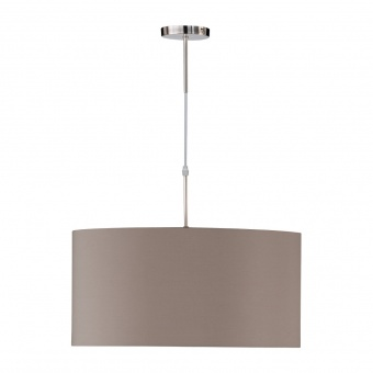 пендел marie, nickel matt coloured+cappuccino shade, 1xE27, fischer&honsel, 63801